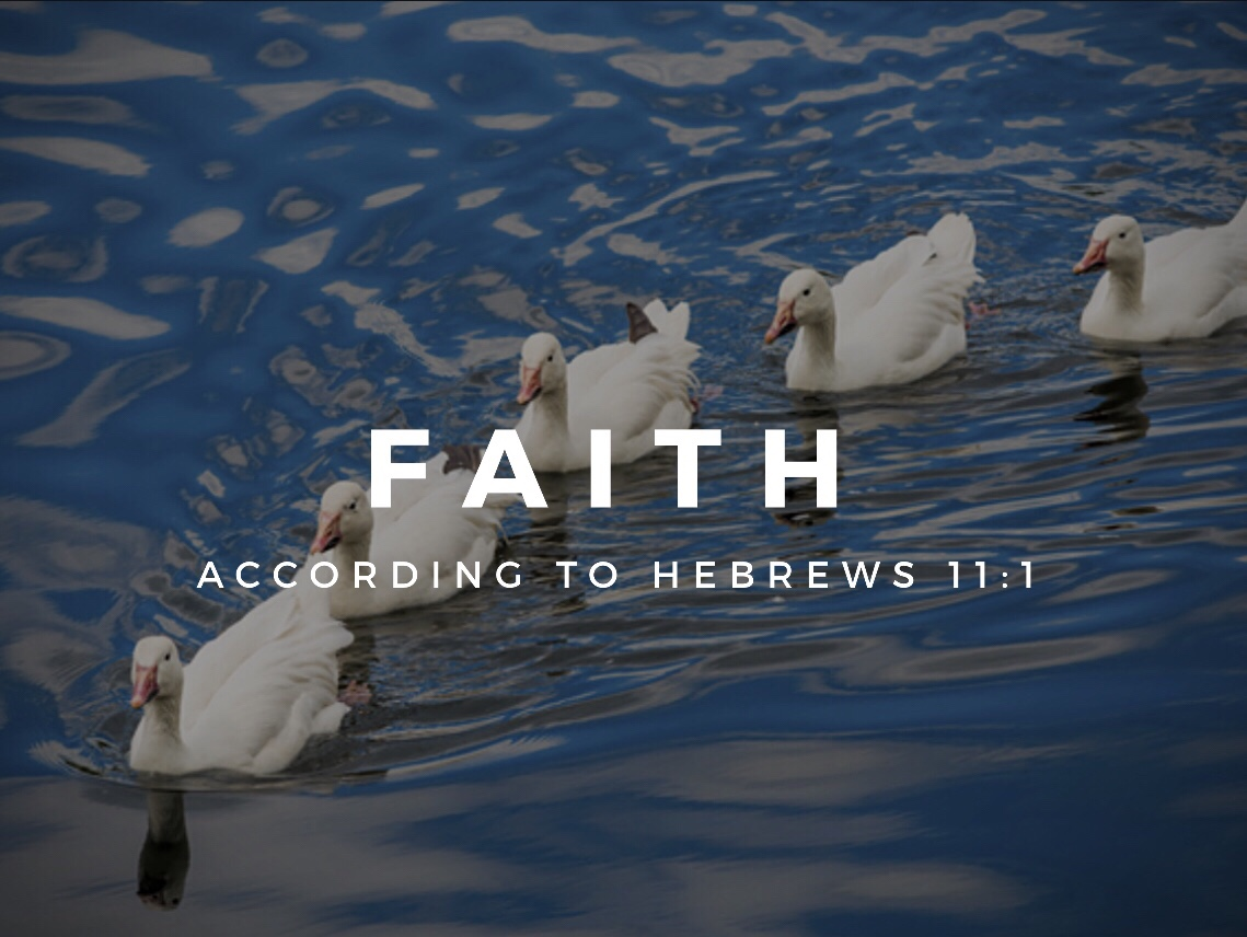Faith... According to Hebrews 11:1